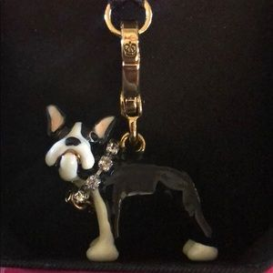 Juicy couture Boston Terrier dog charm